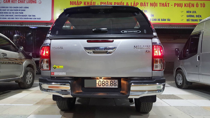 nắp cao canopy carryboy g3 hilux revo1