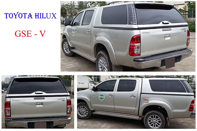 thay kinh Toyota Hilux canopy gse v