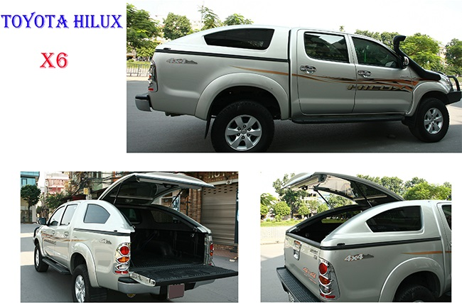 thay kinh Toyota Hilux canopy x6