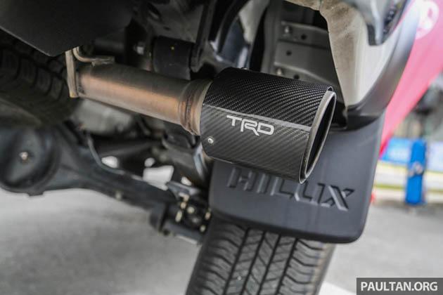 Toyota Hilux phụ kiện TRD ống xả