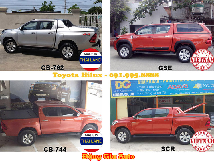 Giá xe Toyota Hilux và mẫu nắp thùng xe bán tải