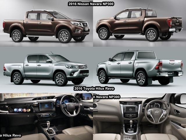 So sánh giữa Toyota Hilux Revo và Nissan Navara NP300