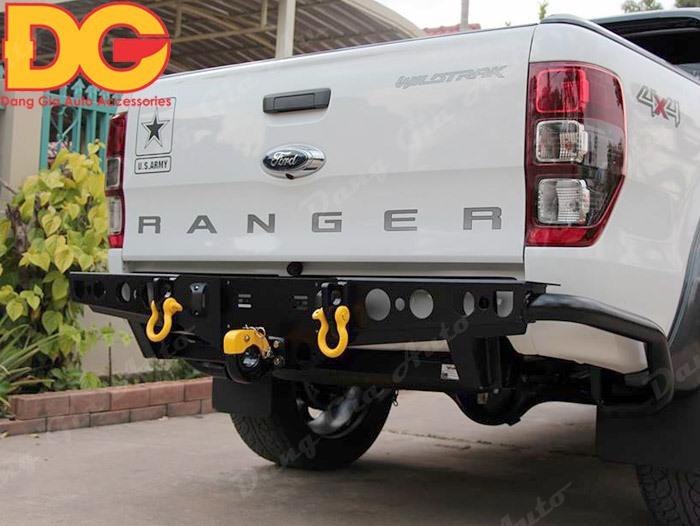 Độ ốp cản Trước - cản Sau Ford Ranger