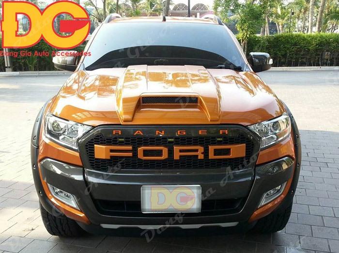 Ốp hốc gió capo xe Ford Ranger Thái Lan